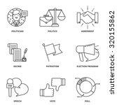 politics vector icons set... | Shutterstock .eps vector #320155862
