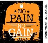 fitness typographic grunge... | Shutterstock .eps vector #320156906
