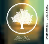 olive oil concept with  tree... | Shutterstock .eps vector #320165852