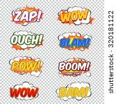 colorful speech bubbles and... | Shutterstock .eps vector #320181122