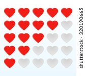 red smooth rating hearts web... | Shutterstock .eps vector #320190665