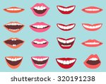 collection of smiles  | Shutterstock .eps vector #320191238