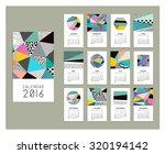 calendar 2016. templates with... | Shutterstock .eps vector #320194142