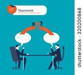 businessmen speaking with... | Shutterstock .eps vector #320200868