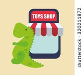 toy shop concept and childhood... | Shutterstock .eps vector #320211872
