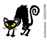 black cat   Shutterstock .eps vector #320223788