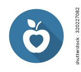 healthy eating icon. flat... | Shutterstock .eps vector #320227082