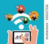 workforce illustration over... | Shutterstock .eps vector #320227226