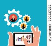workforce illustration over... | Shutterstock .eps vector #320227232