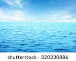 beautiful sky and blue sea | Shutterstock . vector #320230886