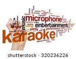 karaoke word cloud | Shutterstock . vector #320236226