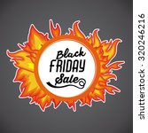black friday concept with ... | Shutterstock .eps vector #320246216