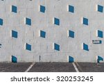 stucco wall with shadows.... | Shutterstock . vector #320253245