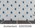 stucco wall with shadows.... | Shutterstock . vector #320253248