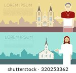 vector image of a catholic... | Shutterstock .eps vector #320253362