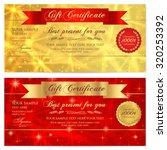 gift certificate  voucher ... | Shutterstock .eps vector #320253392