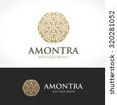 luxury boutique hotel logo... | Shutterstock .eps vector #320281052