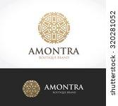 luxury boutique hotel logo... | Shutterstock .eps vector #320281052