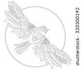 black owl bird head for mascot... | Shutterstock .eps vector #320300192