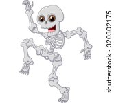 Halloween Skeleton Jumping With ...
