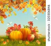 Autumn Vector Thanksgiving Car...