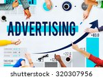 advertising advertise branding... | Shutterstock . vector #320307956