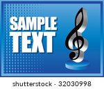 music note on blue halftone... | Shutterstock .eps vector #32030998
