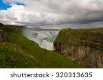 waterfall in iceland. gullfoss. | Shutterstock . vector #320313635
