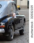 old retro style decorated car... | Shutterstock . vector #32032105