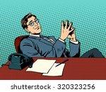 ironic businessman boss.... | Shutterstock .eps vector #320323256
