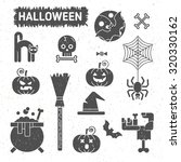 vintage style halloween set of... | Shutterstock .eps vector #320330162
