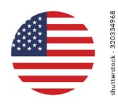 usa button flag  | Shutterstock .eps vector #320334968