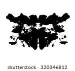 rorschach test. psycho... | Shutterstock .eps vector #320346812