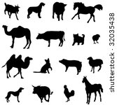 farm animals livestock and... | Shutterstock .eps vector #32035438