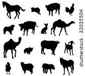 farm animals livestock and... | Shutterstock .eps vector #32035504