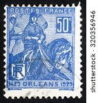 france   circa 1929  a stamp... | Shutterstock . vector #320356946