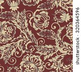Ethnic Flowers Seamless Patter...