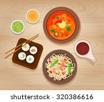 asian food | Shutterstock .eps vector #320386616