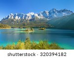 beautiful lake view to eibsee... | Shutterstock . vector #320394182