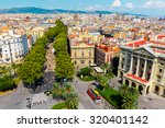 Aerial View Over La Rambla From ...