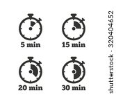 timer icons. 5  15  20 and 30... | Shutterstock .eps vector #320404652