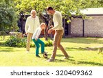 family  happiness  generation ... | Shutterstock . vector #320409362