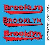 brooklyn  vector illustration   Shutterstock .eps vector #320409452