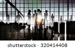 business people communication... | Shutterstock . vector #320414408