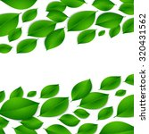 realistic green leaves isolated ... | Shutterstock . vector #320431562