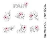 vector human medical polygonal... | Shutterstock .eps vector #320442986