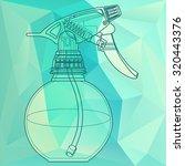 spray trigger  atomizer ...   Shutterstock .eps vector #320443376