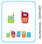 color mobile phones an... | Shutterstock .eps vector #32044387