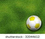 3d yellow and white soccer ball ... | Shutterstock . vector #32044612