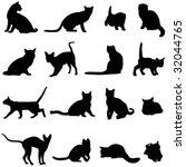 farm animal famous cats | Shutterstock .eps vector #32044765